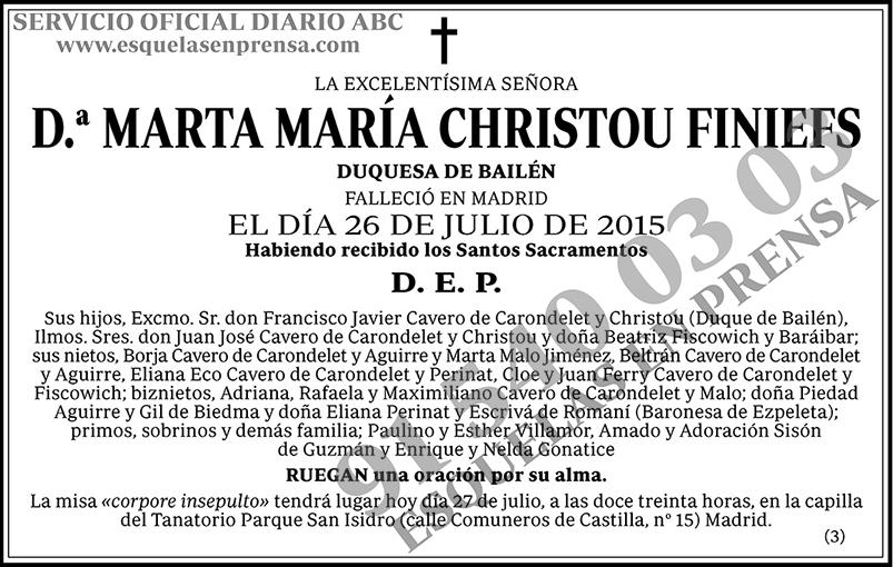 Marta María Christou Finiefs